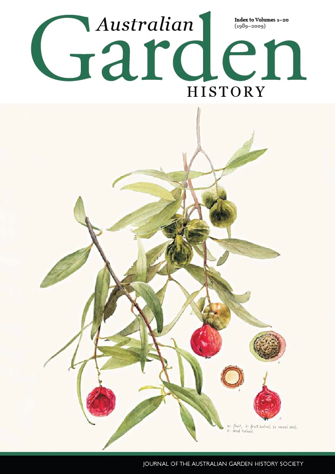 Australian Garden History Index – Volumes 1–20