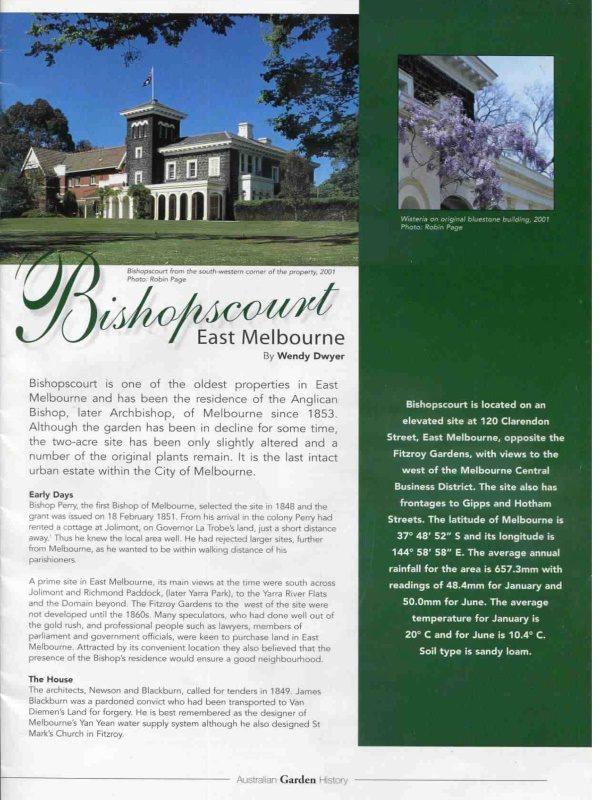Garden History - Bishopscourt