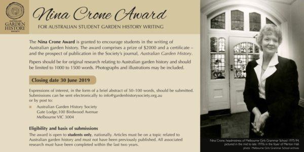 Nina Crone Award