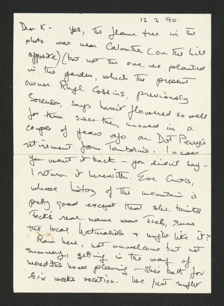 Letter from Judith Wright to Kathleen McArthur